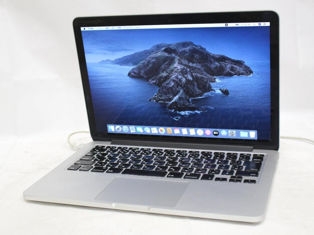 2K対応 13.3型 中古訳有 Apple MacBook Pro A1502 Retina Late 2013 / Win10 + OSX 10.15 / 四代i5-4258u/ 8G/ 256G-SSD/ Office付/ 税無